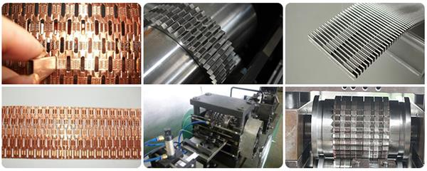 radiator and condenser fin forming machine