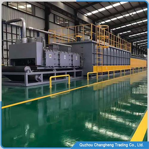 Continuous tunnel type Natural gas brazing oven
